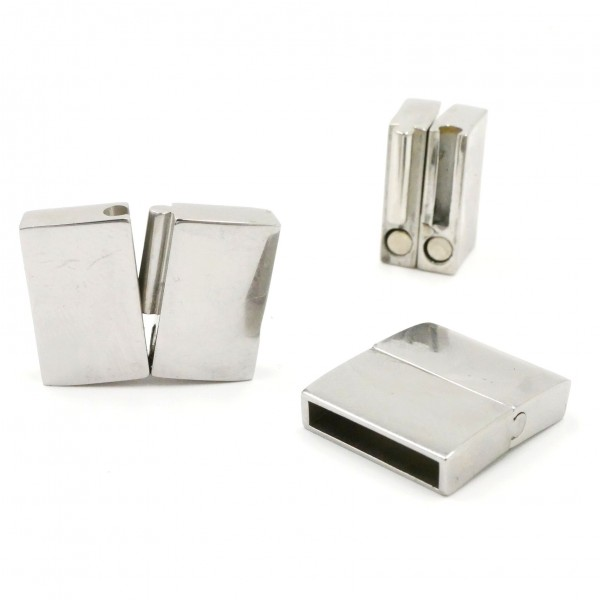 flacher Magnet Verschluss, Schiebeverschluss, Edelstahl (K/9-C1)