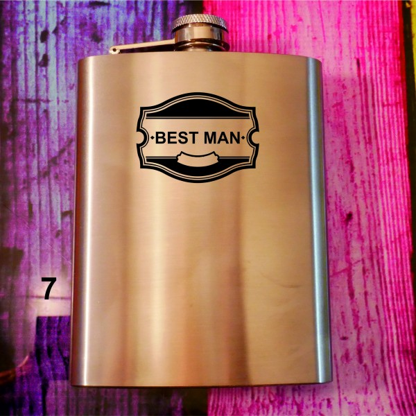 BEST MAN  -Flachmann im Vintage look