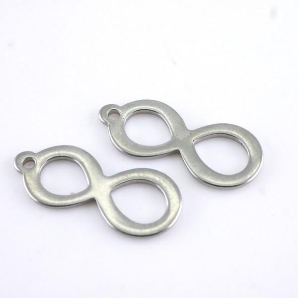 Infinity , Anhänger Edelstahl 20 x 8 mm
