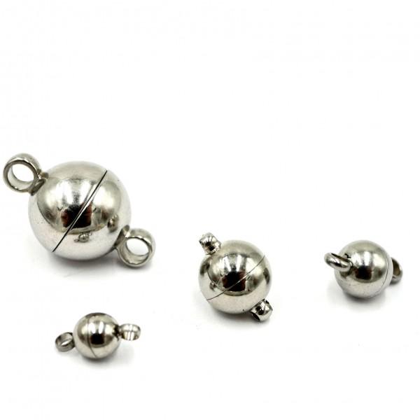 Kugel Magnet Verschluss, Edelstahl, 4 Größen