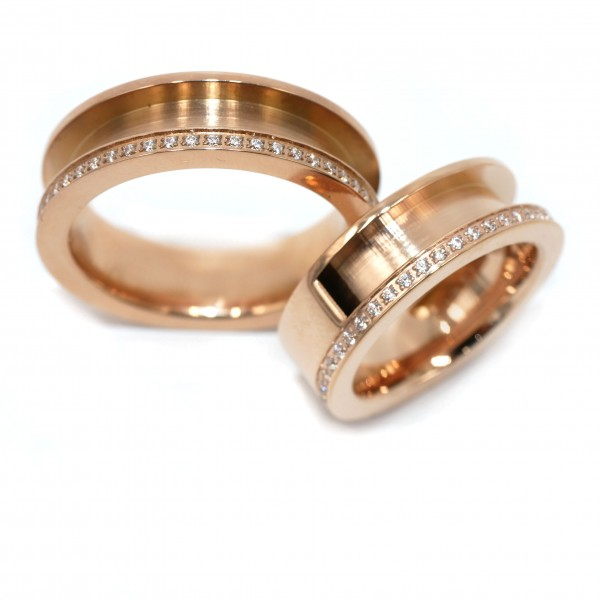 Pferdehaar Ring mit Zirkonia, Ringschine, Rosegold,Schmuck von gutelauneschmuck, diy-pferdehaarschmuck.