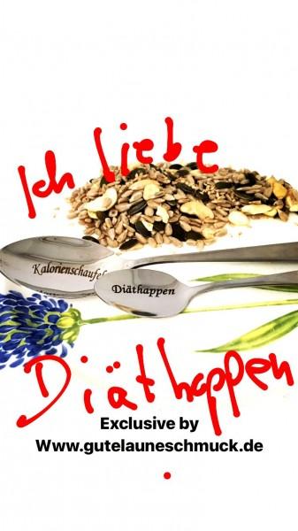 Abnehmen - Diäthappen und Kalorienschaufel, Besteck
