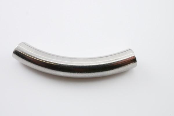 gebogenes Edelstahl Rohr innen: 6mm, Länge: 41mm, Gravuroption (K3/-B4)