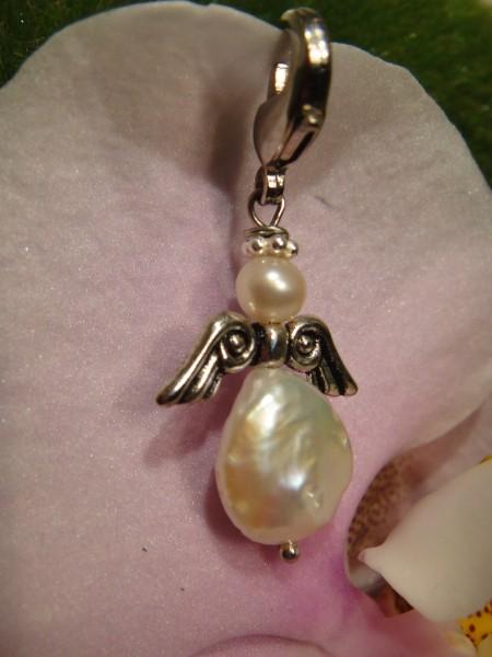 echte Perle Schutzengel, Charm oder Kettenanhänger