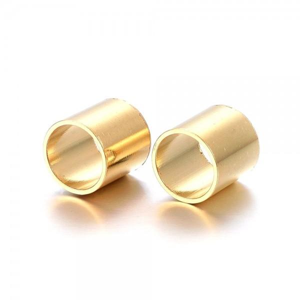Hülse Edelstahl golden , innen 7mm