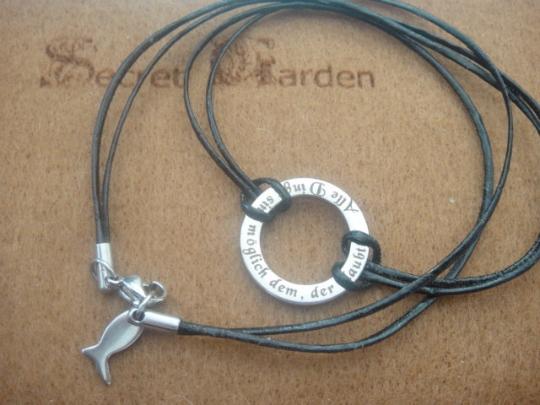Konfirmationskreuz, Ring des Glaubens, einmal anders mit Leder
