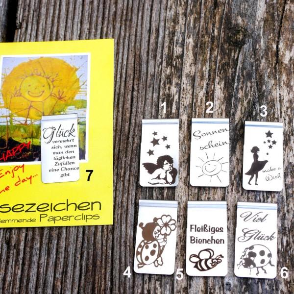 Lesezeichen, selbst klemmend ,Edelstah, Buchzeichen, von gutelauneschmuck.de