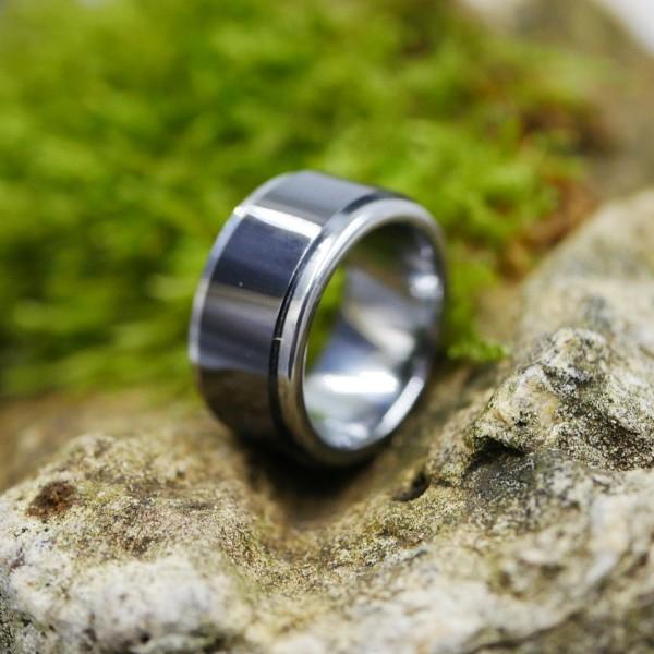 TR-1009 Keramik Tungsten Wolframcarbid Ring 10mm Breite stufig