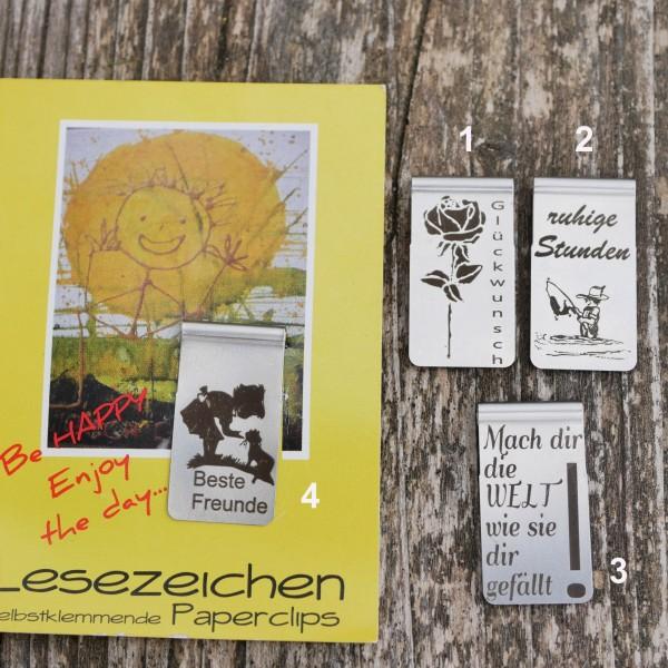 Lesezeichen, Leseclip, Geburtstag, Glückwunsch,Blume