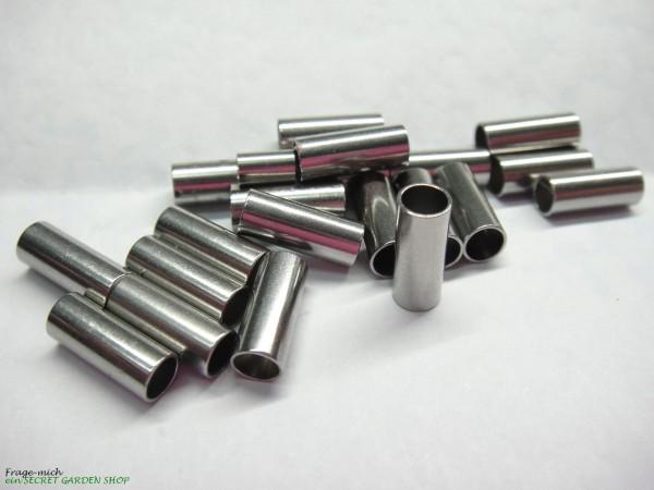 Edelstahl-Hülse, Di: 4mm, Da: 5mm, L:12mm, Zwischenteil, Gravur Option (K/3-A1)