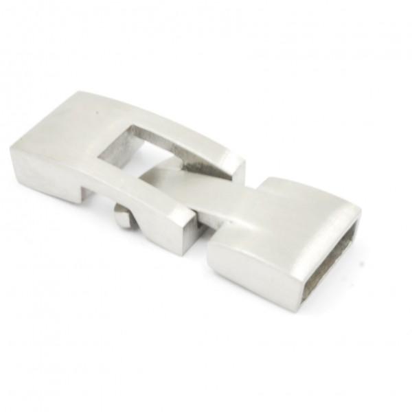 Klebelverschluss gebürtstet Edelstahl für Bänder 10 x 3mm