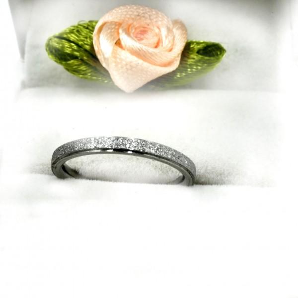 Edelstahl diamandiert verlobungsring, Vorsteckring , schmaler chuck Ring T-1200 von gutelauneschmuck.de