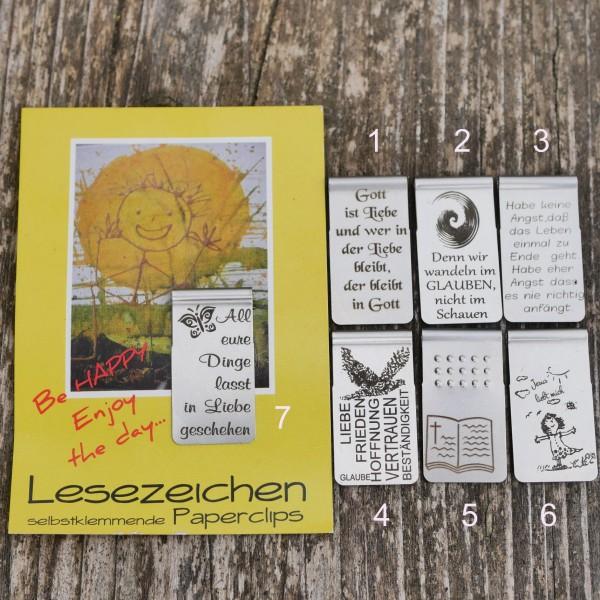 Lesezeichen, Leseclip, Motivation Danke Glaube Liebe von gutelauneschmuck.de