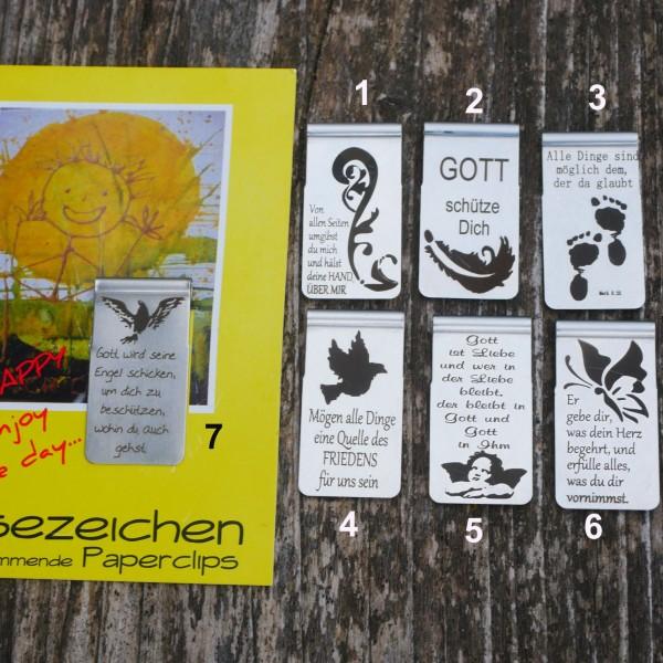 Lesezeichen, selbstklemmend ,Edelstahl, Glaube,Buchzeichen, von  gutelauneschmuck.de