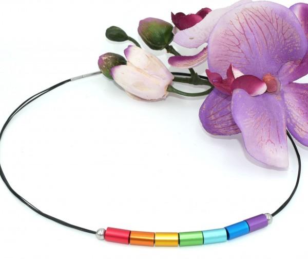 Chakren, Farbe des Regenbogens in Kombination mit Ebenholz