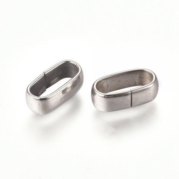 Ovale leicht ballige Öse , Ring aus Edelstahl Pf-H-4046