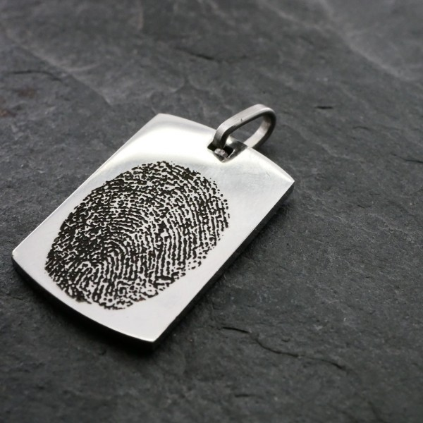 Fingerabdruck und persönliche Handschrift mit Lasergravur Veredlung