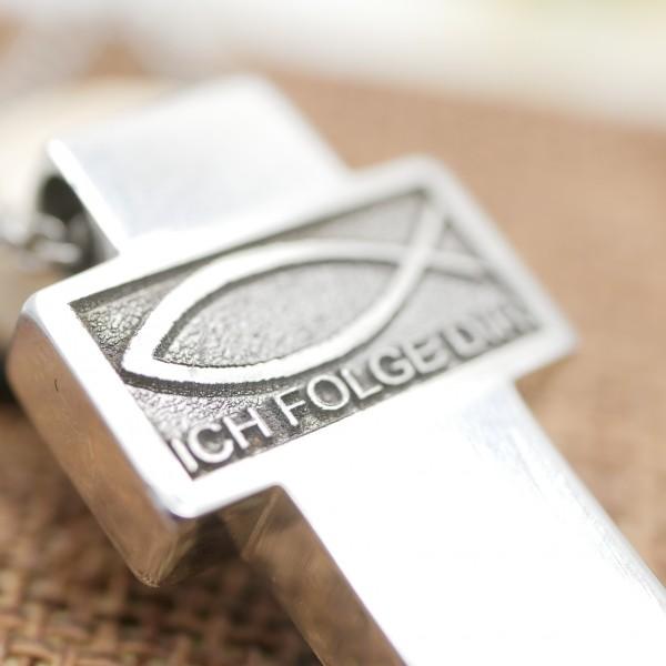 Kreuz, mit ICHTHYS, Glaube, Symbol Fisch, Ich Folge Dir