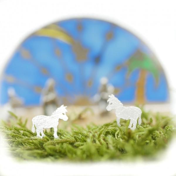 Kleiner Esel Ohrstecker Silber 925 MO-33013