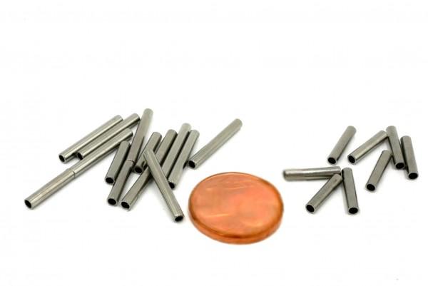 Edelstahlhülse ,Rohr , Hülse innen 1,5mm - 10/15mm lang